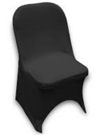 Fitted Spandex Chaircover Black Kosins